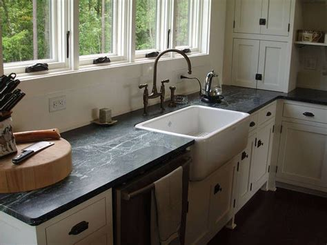 sink on top of counter soapstone counter top w farmhouse sink love the