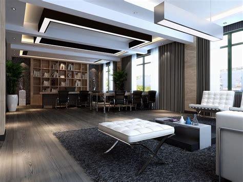 Bookcase Wallpaper Designs, Modern Ceo Office Interior