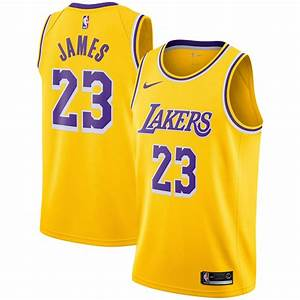Nike Lebron James Los Angeles Lakers Youth Gold 2018 19