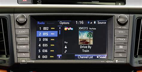 rav4 radio toyota entune satellite siriusxm app sirius technology display drum features hd beat own march suite