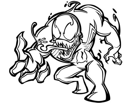 Free Coloring Pages Of Venom Agent Venom Coloring Pages