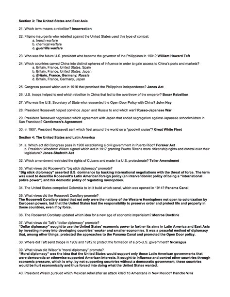 Chapter 18 Review Answers  Mr Evans' Us History Ii
