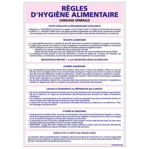 panneau des rgles d hygine alimentaire a0735