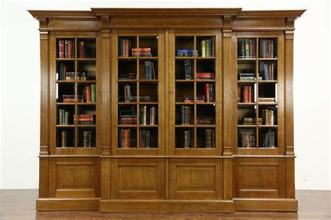 bookshelf with glass doors sold oak 1920 s antique 10 library bookcase