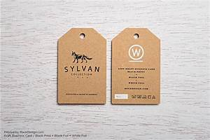 free kraft paper business card template rockdesigncom With hang tag design template