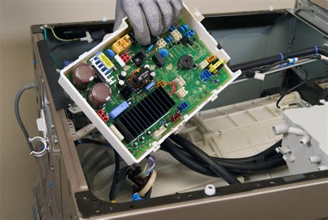 how to replace the machine board in a front load washer repair guide help sears
