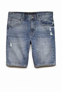 Light Wash Distressed Jeans Mens Lyst Forever 21 Distressed Denim Shorts In Blue For Men
