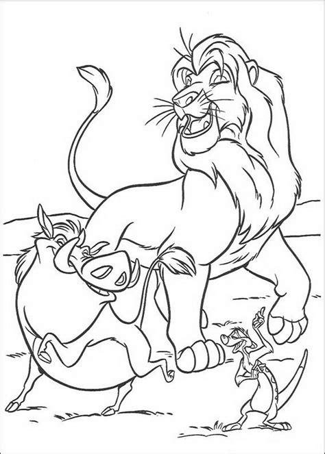 Kleurplaat Pumba by Kleurplaat King Of De Leeuwenkoning Simba Timon En