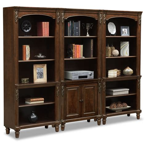 ashland wall bookcase cherry american signature furniture