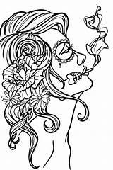 Smoking sketch template