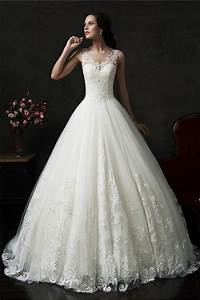 princess ball gown illusion neckline sleeveless tulle lace With sleeveless wedding dresses