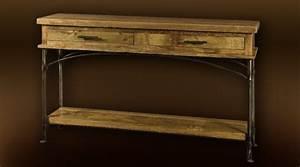 Console En Fer Forgé : console rustique bois et fer forg ~ Teatrodelosmanantiales.com Idées de Décoration