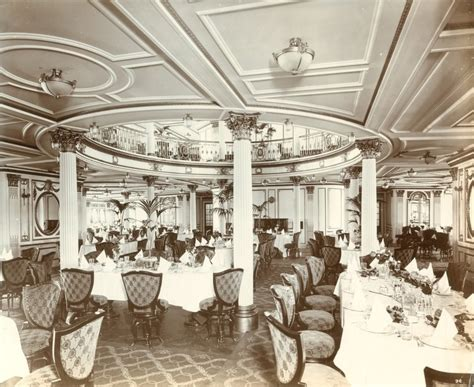 dinning room interior of the rms lusitania 1905 1907 source le mal