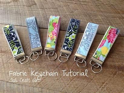 Fabric Tutorial Key Craft Sewing Keychain Chain