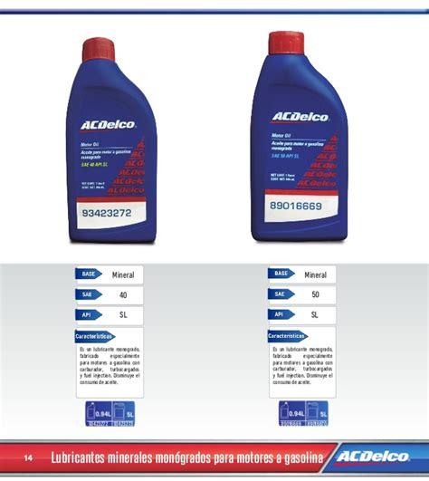Catálogo De Filtros Y Lubricantes 2014 Acdelco