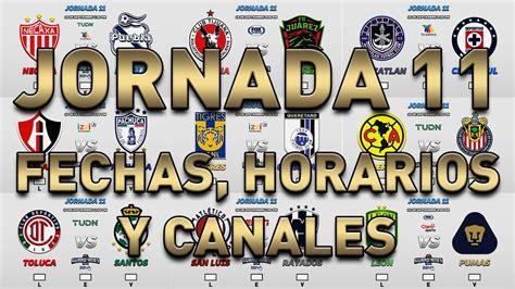 PRONOSTICOS, HORARIOS Y CANALES PARA LA JORNADA 11 DE LA ...