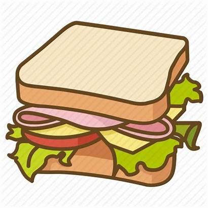 Sandwich Salad Clipart Ham Lunch Blt Icon