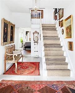Rugs, U2013, Home, Decor, Loving, This, Rustic, Vintage, Modern, Entryway, That, Runner, On, The, Stairs, Is