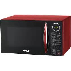 RCA, 0.9 cu ft Microwave, Red, Multicolor