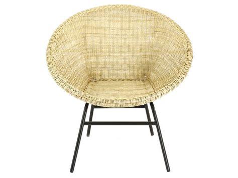 fauteuil en rotin tress 233 ribao coloris naturel vente de fauteuil conforama