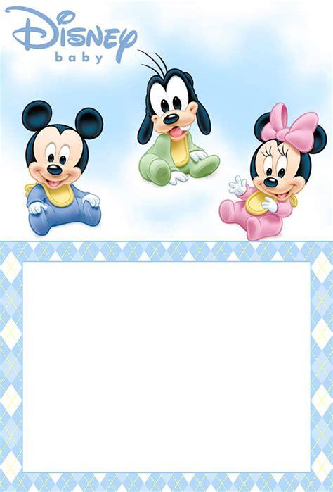 printable disney baby invitation template mickey
