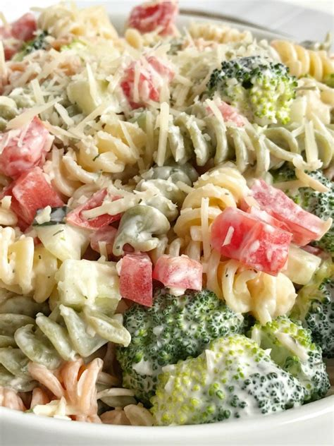 pasta salad side dish ranch pasta salad together as family