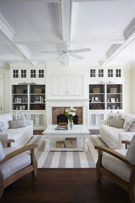 whitewashed coffee table cottage living room muskoka