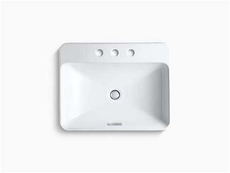 k 2660 8 vox rectangle vessel sink with 8 inch centers kohler