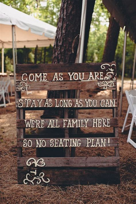 wooden signs with sayings rustic wedding theme ideas dipped in lace