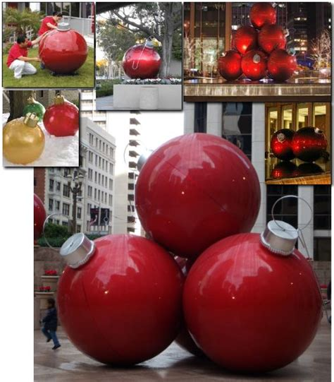 places that sell big christmas lutside balls decorating ornaments diy using balls and gloss spray paint