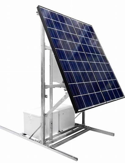 Solar Panel Rtu Stands System Powered Transparent