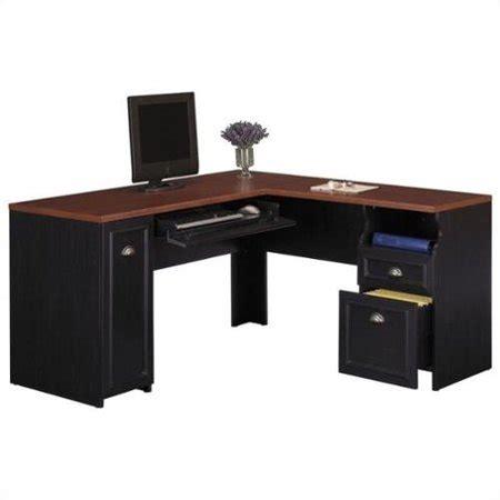 desk l walmart bush fairview l shaped wood computer desk in black