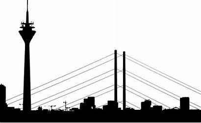 Silhouette Clipart Vector Cityscape Dusseldorf Clip Svg