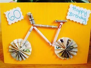 Geldgeschenk Fahrrad Basteln : geldgeschenk f r einen fahrrad liebhaber ideen ~ Lizthompson.info Haus und Dekorationen