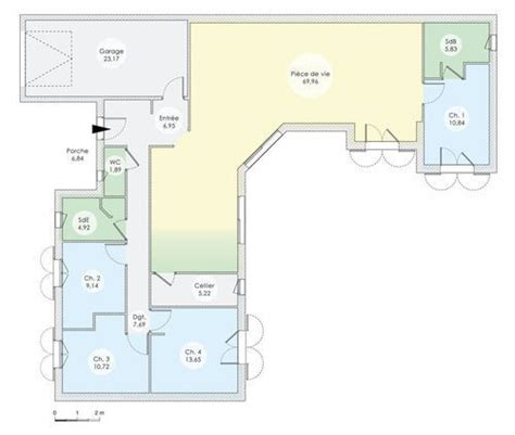 plan maison plein pied 4 chambres 17 best images about plans maisons on high