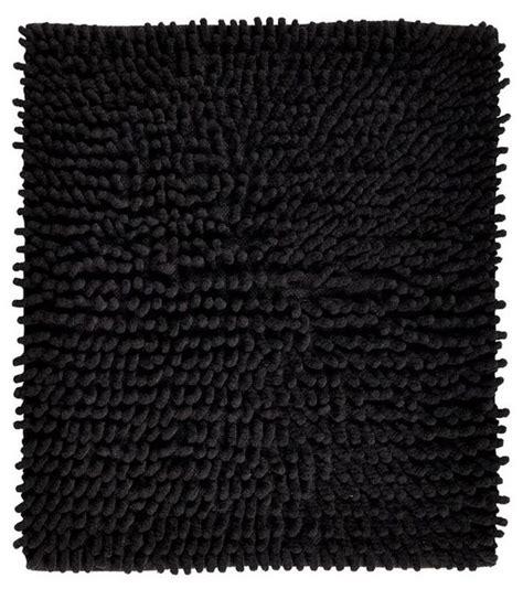modern bath rug black loopy chenille bath rug white contemporary bath mats