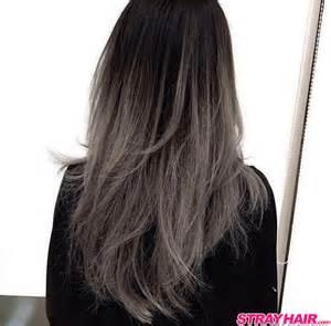 Ombre Hair Color Dark Grey