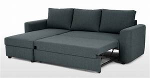 Aidian Corner Storage Sofa Bed Night Blue