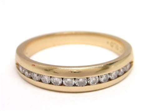 14k gold wedding or anniversary band ring from