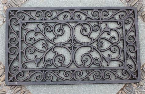Wrought Iron Doormat by Decorative Wrought Iron Scroll Door Mat Outdoor Door Mat