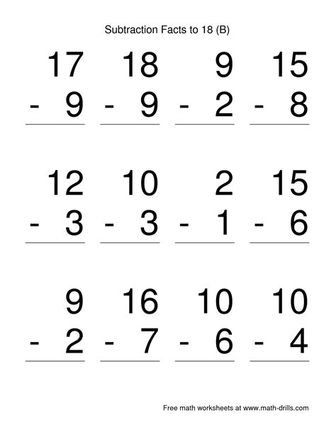 1st grade math worksheet subtraction and addition 12 best images of grade subtraction math worksheets