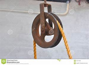 Pulley stock photo. Image of iron, traditional, wells ...