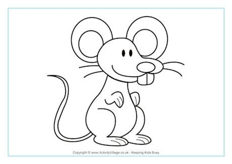 mouse colouring page