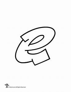 Graffiti Lowercase Letter e - Woo! Jr. Kids Activities