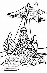 Fish Jesus Coloring Pages Crafts Disciples Bible Catch Fishing Fishers Luke Story Sunday Colouring Preschool Children Craft Activities Church Yahoo sketch template