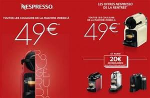 Machine Nespresso Promo : nespresso inissia rentr e 2015 machine 49 ~ Dode.kayakingforconservation.com Idées de Décoration