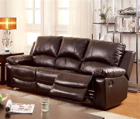 Top Grain Leather Recliner Sofa by Watkins Casual Brown Top Grain Leather Sofa With Dual