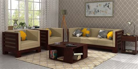Wooden Sofa Set: Best Wooden Sofa Set Online in India Upto