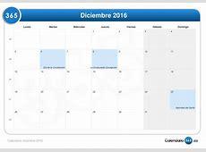 Calendario diciembre 2016