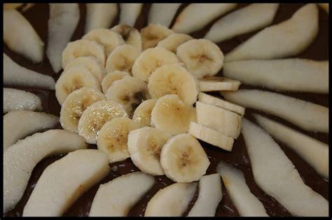 tarte nutella poire banane les ptits frichtis de manue